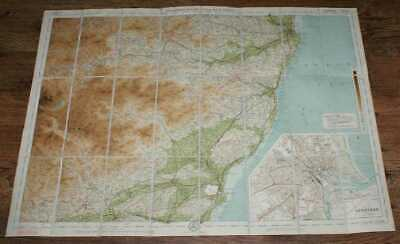 Map: Aberdeen & Deeside - Bartholomew's Scotland, 17, Half Inch to Mile, 1921