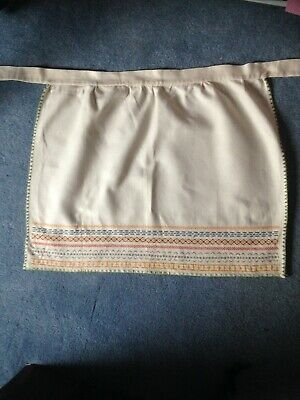 Vintage Hand Embroidered Apron