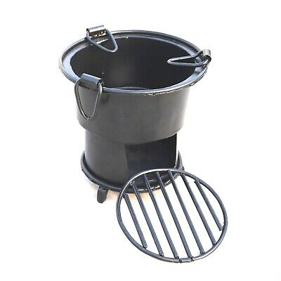 Iron wood Coal burning Kitchen use stove Sigri Fire pit Portable India