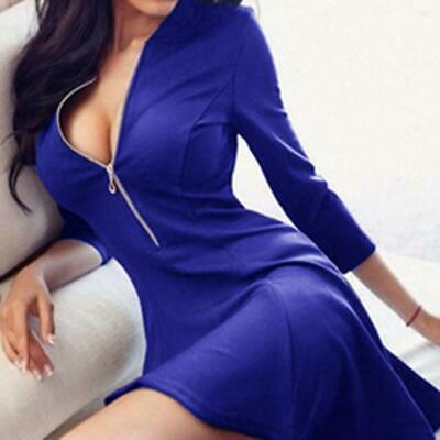 Womens Bandage Bodycon Long Sleeve Evening Party Fitness Sexy Short Mini Dress
