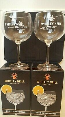 2x New Boxed WHITLEY NEILL Beautiful Large Gin Balloon Glasses BAR Collectable