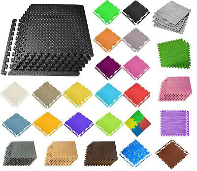 Interlocking Mat Yoga Exercise Gym Fitness Gymnastics Soft Foam Floor 60X60X1 cm