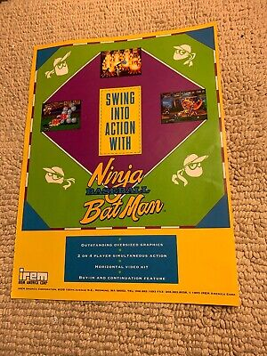 1992 IREM SKINS GAME VIDEO FLYER MINT