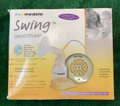 Medela-Swing Single Electric Breast Pump, Power adapter & Accessories, no bottle