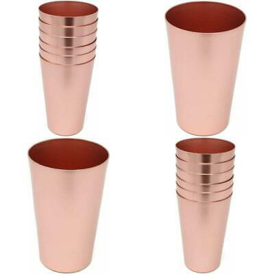 6 PCS Anodized Aluminum Tumblers Drinking Glasses Vintage Cup 18 OZ Rose Gold US