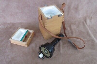 Vintage Weems & Plath Inc. Hand/light Compass  w/wood case,  Japan
