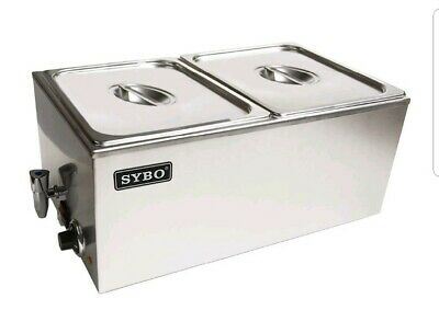 SYBO Buffet Food Warmer Steam Table for Catering Restaurant SS 2 Well with Tap