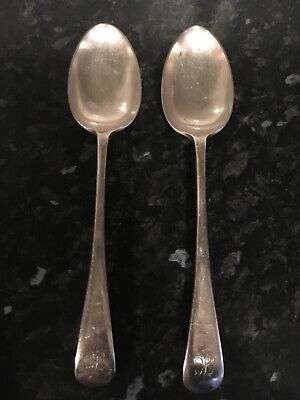 Silver plate electroplate vintage Victorian antique cutlery  spoons .