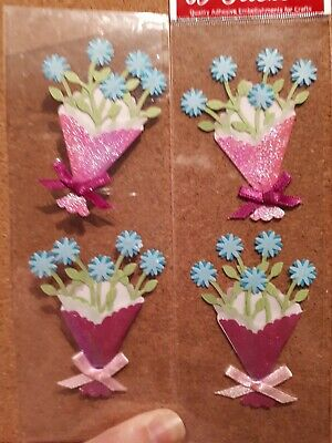 Blue Flower Bouquet Craft Embellishments