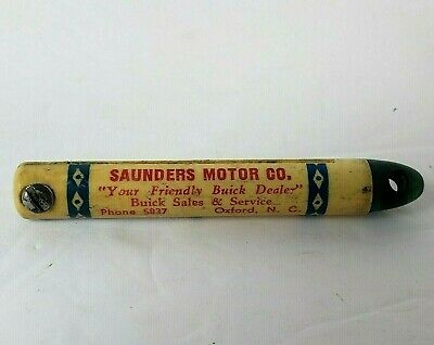 Vintage Buick Auto Dealership Advertising Keychain Saunders Motor Co. Oxford NC