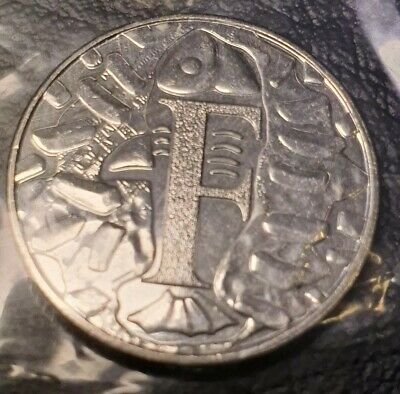 Great British Coin Hunt A-Z Alphabet 10p Uncirculated Letter F Fish & Chips 2018