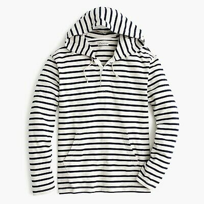 New SONOMA Life Style Men/'s Striped Henley Hoodie Navy Blue MSRP $44