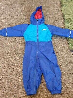Regatta blue padded all in one puddle jumper age 18-24 months