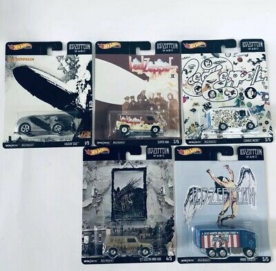 HOT WHEELS 2020 POP CULTURE LED - ZEPPELIN COMPLETE 5 CAR SET Great Gift 🎁 🎁
