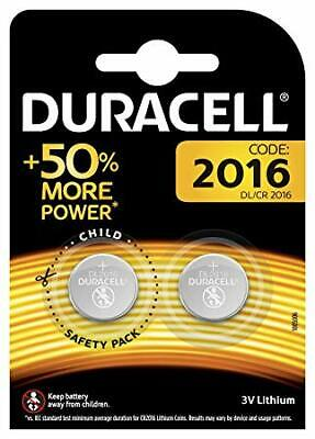 2 x Duracell CR2016 3V Lithium Coin Cell Battery 2016 DL2016 BR2016 SB-T11