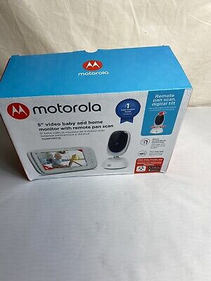 "Motorola 5"" Video Baby Monitor with Remote Pan Scan - White New"