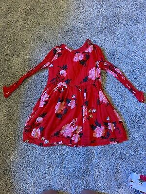 Old Navy Girls Dress 5t Floral Christmas Super Cute EUC