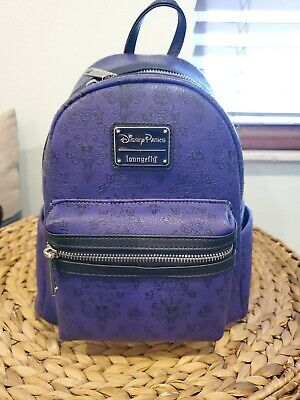 Nwt Disney Parks Haunted Mansion Wallpaper Mini Backpack By Loungefly