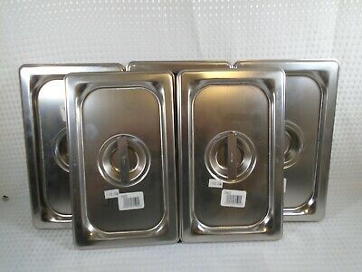 Vollrath 93400 Super Pan 3 1/4 Size Solid S/S Cover - NEW (5-Pack)