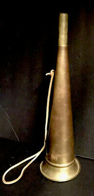 Copper & Brass Horn Call Fox Hunting Display Prop Antique wall hanging Vintage