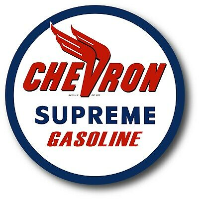 Chevron Vintage Decals Stickers Racing Gasoline Oil Vintage Reproduction Decal