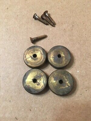 Set Of 4 Antique Brass Feet Fottings For Seth Thomas Wales Clock City Series