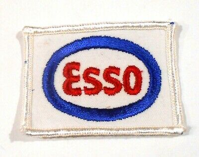 "Esso Gasoline Patch Embroidered Oil 2-3/4"" inches  vintage"