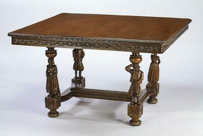 Handsome French Breton carved oak table, 19th century ( 1800s )!!
