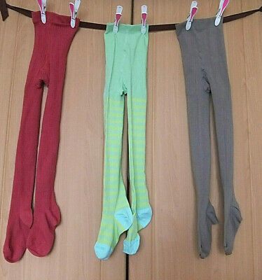 3 Pairs NEW girls cosy tights Age 7 - 8 years in super condition freshly washed