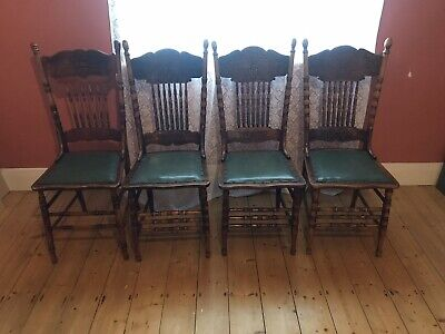 Antique Australian Colonial  Dining Chairs Circa 1890 Spindle Back