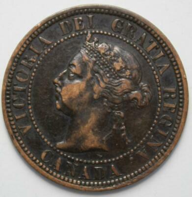 Canada 1890H Large Cent, Better Old Date Queen Victoria