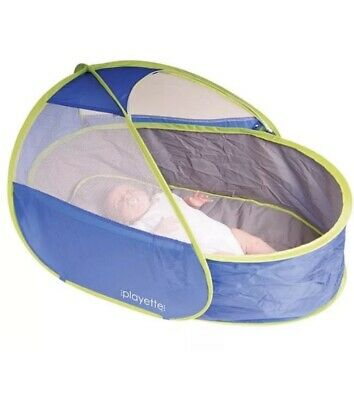 Playette Travel Cot Pop Up Pod With Carry Bag. Perfect For Camping/travel/flight