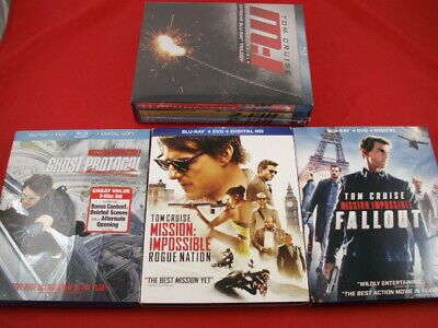 Tom Cruise Mission Impossible 1-6 Blu-ray Movie Collection-Rogue Nation Fall Out