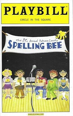 The 25th Annual Putnam County Spelling Bee Playbill, Opening Night Date