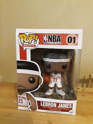 Funko pop! Sports NBA #01 Lebron James White Jersey Cleveland Cavaliers