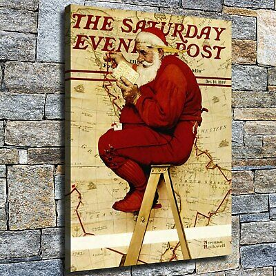 """12""""x16"""" Santa Claus draws a map Pictures HD Home Decor Wall art Poster Paintings"""