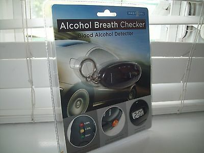 Alcohol Breath Checker Blood Alcohol Detector Keychain NEW