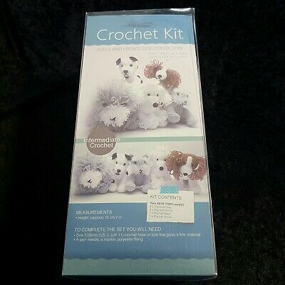 Passioknit Animal Toy Rufus and Friends Dog Collection  Crochet Kit