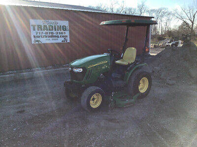 2010 John Deere 2320 4x4 Hydro Compact Tractor w/ Belly Mower Only 1500 Hours!