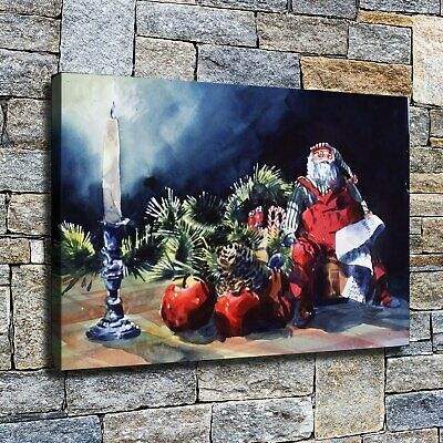 """12""""x18"""" Little Santa sitting on the table fruit HD Home Decor Wall art Paintings"""