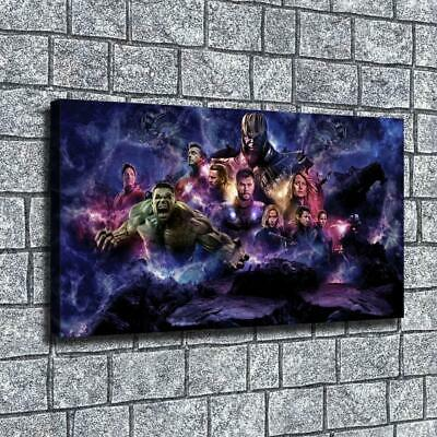 "12""x22""Marvel heroes and thano HD canva home decor wall art picture poster photo"