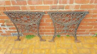 Vintage Cast Iron Table Ends (Heavy)