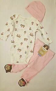 Child of Mine by Carter's Baby Girl Monkey Play 3 Piece Set