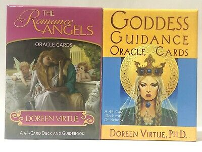 Doreen Virtue Lot of 2 Romance Angels & GODDESS GUIDANCE Oracle Cards Japan OOP