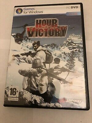 HOUR OF VICTORY Pc DVD Rom FPS Shooter -Rare- FAST DISPATCH