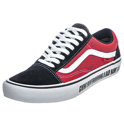 Vans X Baker Old Skool Pro Mens Shoes BlackWhiteRed