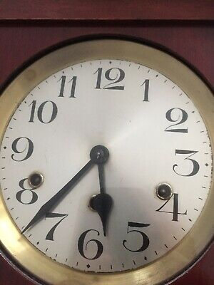 Antique Wall Clock Circa 1880/1900  Small Proportions 8 Day Gwo. Fine Condition.