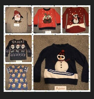 Christmas Clothes - Jumpers, Leggings, Tops - Various Sizes - Job Lot