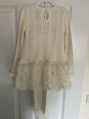 BNWT Tahari Toddler Girls Cream Outfit Aged 1-2 Years