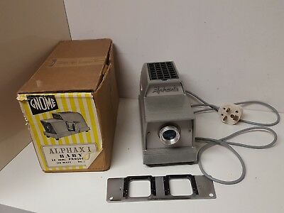 Gnome Projector Alphaxi Baby 35mm Slide 150 watt (No725A)Vintage